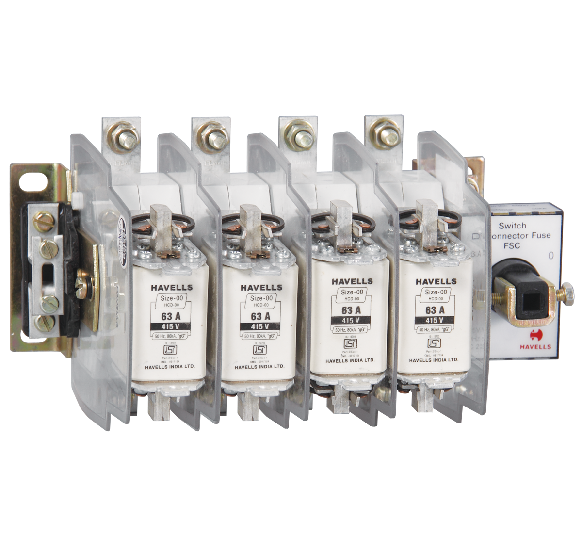 Kompact EZO Switch Disconnector Fuse Unit In Sheet Steel Enclosure with 4 Fuse 160 A - 800 A